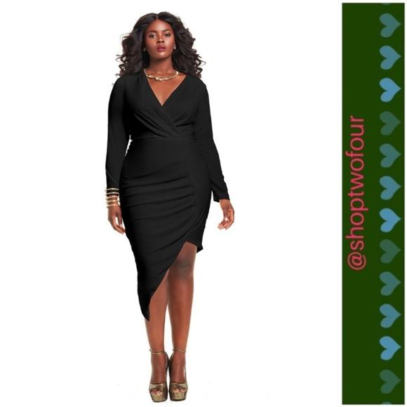 18504bf0fb7 Prom dress Monif C Asymmetrical Black Plus Size